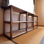 ついに完成、和室棚